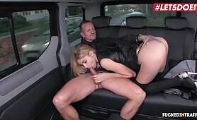 European Babe Karina Grand Gets Multiple Creampies In The Uber