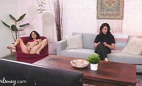 Eliza Ibarra Gets Caught By Roommate Whitney Wright While Masturbating