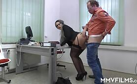 Office slut loves to be used at work