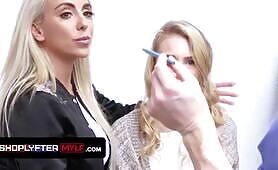 blondy Milf Lisey pretty Gets Suspended For Shoplifting And Penalized By The Security Guard