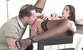 French Babe Clea Gaultier Ass Pussy & Mouth Fucked