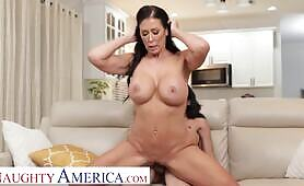 huge tit Milf Reagan Foxx burns off calories by fucking her son's athletic friend